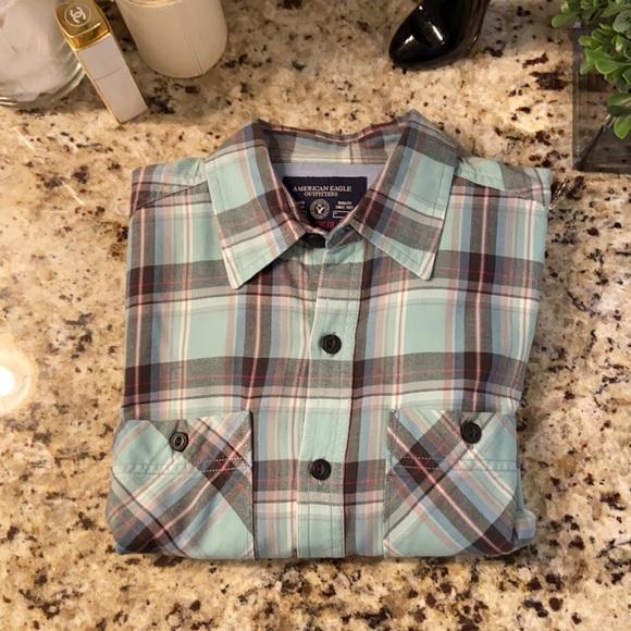 American Eagle men's sz S LS shirt